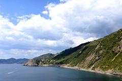 Big clouds in Cinque Terre, Italy - stock photo