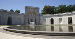 WIMSA fountain in Arlington National Cemetery. Shot in May 2012. Stock Footage