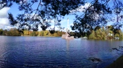 Chesme column. Pushkin. Catherine Park. Tsarskoye Selo. 4K. Stock Footage