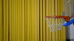 Shot fail in a basket in a basketball game. Stock Footage