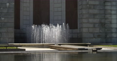 Fountain at WIMSA memorial in Arlington National Cemetery. Shot in May 2012. Stock Footage