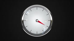 Indicated four o'clock point of gauge. gauge or watch animation. Stock Footage