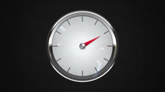 Indicated two o'clock point of gauge. gauge or watch animation. Stock Footage