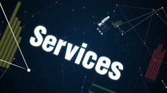 On-Offline , Services , Solution, Reward, Communication,'CUSTOMER SATISFACTION ' - stock footage