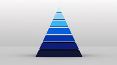 3D Pyramid shape with seven layers, vector Infographic Stock Footage