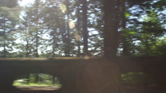 Left Side view of a Driving Plate: Car traveling east on Oregon's Historic - stock footage