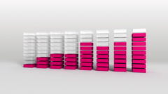 Increase economic graph. 3D Bar Chart 3.(included alpha) - stock footage