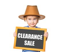 Text  clearance sale. - stock photo