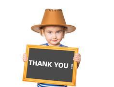 Text  thank you. Stock Photos