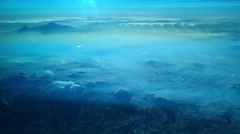 Flying over the desert Stock Footage