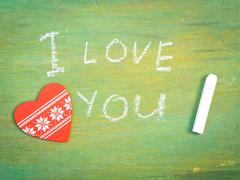 Lettering  I love you Stock Photos
