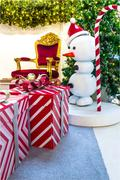 Home Showcase Interior, CHRistmas Decoration on living space. - stock photo