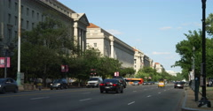 Government office buildings along Constitution Avenue, Washington DC. Shot in Stock Footage