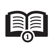 Simple set of books icon - stock illustration