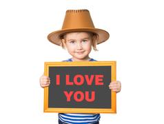 Text I LOVE YOU. - stock photo