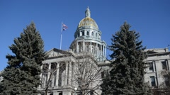Colorado State Capitol Building, home of the General Assembly, Denver. Stock Footage