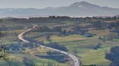 Mount cimone italian mountain at sunrise. Stock Footage