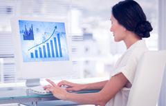 Composite image of blue data Stock Photos
