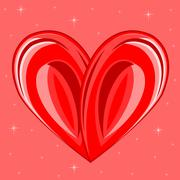Decorative background with heart - stock illustration