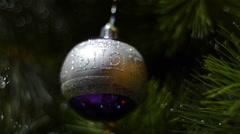 Christmas tree toy - stock footage