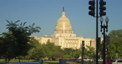 US Capitol Building from Constitution Avenue. Shot in 2012. - stock footage