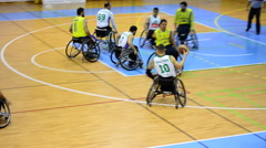 Extract a game of wheelchair basketball Stock Footage