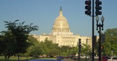 US Capitol Building from Constitution Avenue. Shot in 2012. Stock Footage