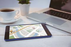 Stock Photo of Composite image of map app