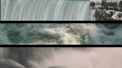 Niagara Falls In Winter Stock Footage