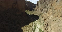 Aerial drone sccene of big canyon in dry climate, chubut, argentina. Stock Footage