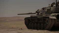 Stock Video Footage of tanks fired live ammunition