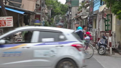 Ha Noi city traffic, Vietnam Stock Footage