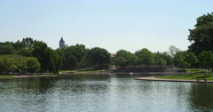 Constitution Gardens pond, Washington DC. Shot in May 2012. Stock Footage