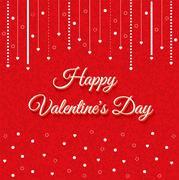 Valentines Day Vintage Lettering Background - stock illustration