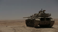 tanks fired live ammunition - stock footage
