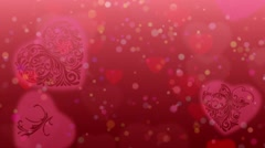 Valentines Heart background Stock Footage