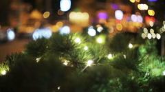 Christmas illumination at city Stock Footage