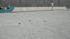 Playing jeu de boules in Vienna Stock Footage