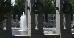 World War II Memorial from the north side, Washington DC. Shot in May 2012. Stock Footage
