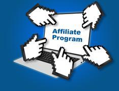 Affiliate Program concept - stock illustration