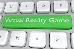 Virtual Reality Game concept Stock Illustration