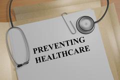 Preventing Healthcare concept Stock Illustration