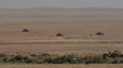 Tanks in the desert before the fight. Stock Footage
