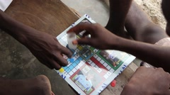 Africa native village ludo game Stock Footage