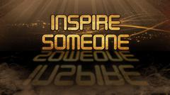 Gold quote - Inspire someone Stock Illustration
