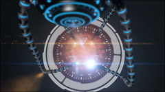 Virus, bacteria, microbe. Futuristic background. HUD monitor - stock footage