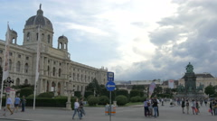 Kunsthistorisches Museum and Maria Theresa Monument, Vienna Stock Footage