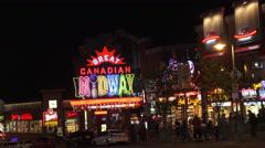 Clifton Hill District, Niagara Falls Canada 4K Stock Footage