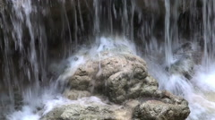 Fragment of Kuang Si waterfall Stock Footage