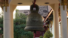 Bell At Buddhist Temple Stock Footage